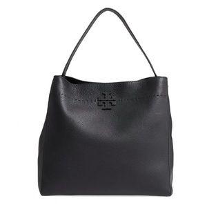TORY BURCH McGraw Leather Hobo Bag.